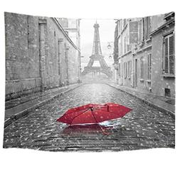 HVEST Paris Tapestry Eiffel Tower Tapestry Wall Hanging City