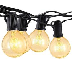 Sunsgne 25Ft Outdoor Patio String Lights with 25 Clear Globe