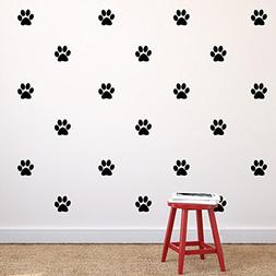 N.SunForest Paw Print Repeatable Pattern Set of 30 Vinyl Wal