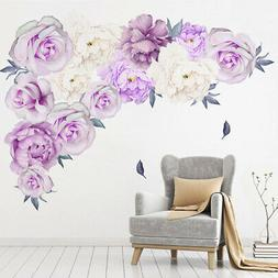 Peony Flower Home Wall Sticker Living Room Office Decal Mura