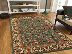 Persian Rugs For Living Room 5x8 Green Area Rug Greens Tabri