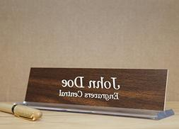 Personalized Office Desk Name Plate -  - on a Beautifully De