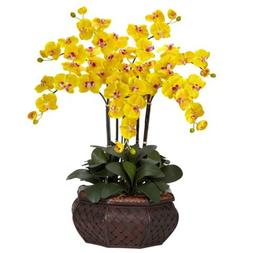 Nearly Natural Large Phalaenopsis Silk Flower Arrangement Ye