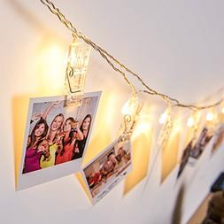 Photo Clips String Lights,Reabeam,Twinkle Light,20 Clip,Wedd