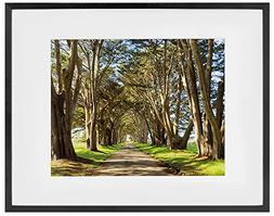 Golden State Art 11x14 Picture Frame - Black Aluminum  - Fit