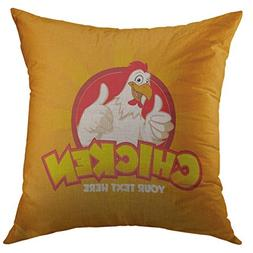 Mugod Pillow Case Red Fried Happy Funny Cartoon Rooster Chic