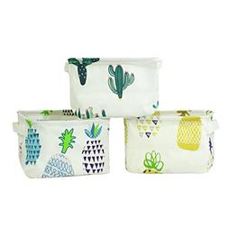 Orino Pineapple Summer Theme Storage Bins Small Size Collaps