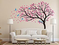 designyours Beautiful Pink Cherry Blossom Tree Wall Decal Fl