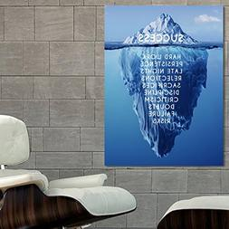 Poster Success Inspiration Motivation Iceberg 30x40 inch  on