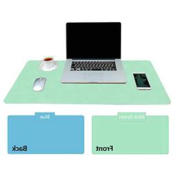 Practical Office Desk Pad Protector, Mint Green - Sky Blue D