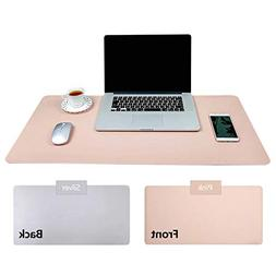 Practical Office Desk Pad Protector, Pink - Silver Double-Si