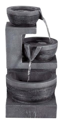 Pure Garden Tabletop Water Fountain With LED Lights - Three