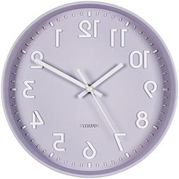 Bernhard Products Purple Wall Clock 10-Inch Silent Non-Ticki