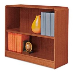 Alera Radius Corner Bookcase, Wood Veneer, 2-Shelf, 36w x 12