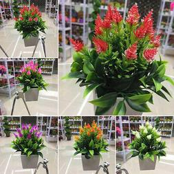 Realistic Artificial Flowers Plant In Pot Home Office Decora