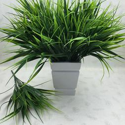 Realistic Artificial Plastic Green Grass Flowers Plant Offic