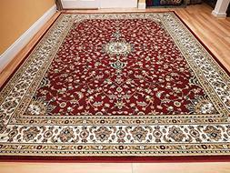 New Red Traditional Persian Area Rugs 5x5 Round Rugs 5ft Rou