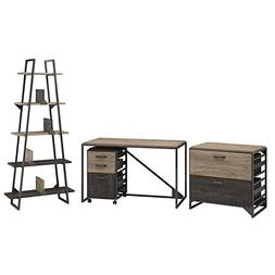 Bush Furniture Refinery 50W Industrial Desk with A Frame Boo
