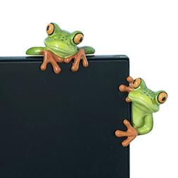 YOHEE Resin Creative 3D Craft Frog Decoration Office Desk Co