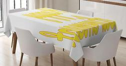 Retirement Party Tablecloth Ambesonne 3 Sizes Rectangular Ta