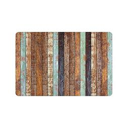 InterestPrint Retro Vertical Stripes Wood Pattern Indoor Out