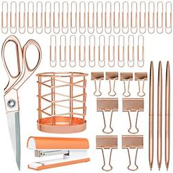 Rose Gold Desk Accessories | 7 Desktop Essentials  | Office