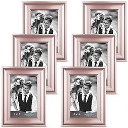 Icona Bay 4x6 Rose Gold Picture Frames  Photo Frame, Wall Mo