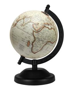 Rotating Globe 5'' inch Off-white Antique Geographical World
