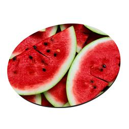 Round Watermelon Slice Mouse Pads Anti Slip Rubber Gaming Ma