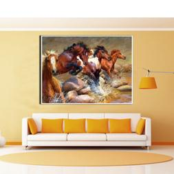 Running Horse Prints Canvas Art Oil Painting Poster Picture