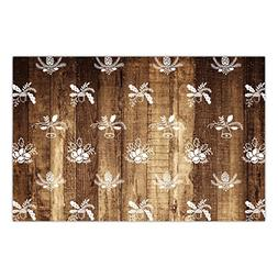 Rustic Christmas Paper Placemats 25 Pack Yule Parties Office
