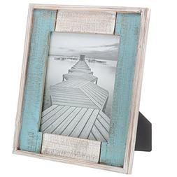 "Barnyard Designs Rustic Distressed Picture Frame, 8"" x 10"" W"
