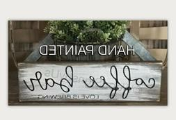 Rustic Wood Sign COFFEE BAR Love is Brewing Home Decor Kitch