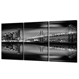 Kreative Arts San Francisco Bay at Night in Black and White