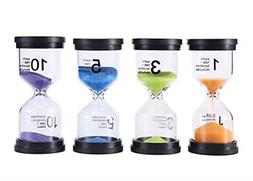 Sand Timer 4 Colors Hourglass 1/3/5/10 Minutes Kitchen Home