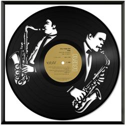 Saxophone Vinyl Music Wall Art Record Gift Home Office Room