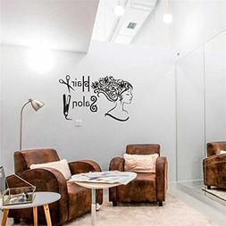 BIBITIME Sayinsg and Quotes Barbershop Wall Decals Hairdress