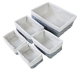 Juvale Nesting Basket - 5-Piece Utility Storage Baskets, Lig