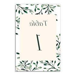 Shabby Chic Table Numbers 25 Pack Elegant Greenery Single Si