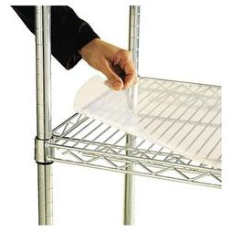 Alera Shelf Liners For Wire Shelving, Clear Plastic, 48W X 1