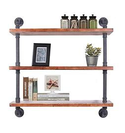 DIWHY Shelves Industrial Shelf with Pipe DIY Retro Wall Moun
