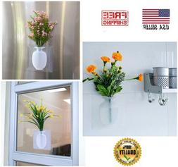 Silicone Vase Sticky Flower Wall Hanging Home Office Decor G