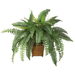 Silk Boston Fern Desk Top Plant with Pot
