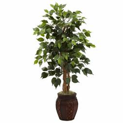 "44"" Silk Ficus Tree w/ Decorative Planter"