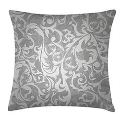 Ambesonne Silver Throw Pillow Cushion Cover, Victorian Style