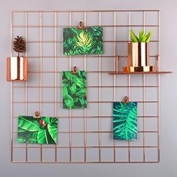 Simmer Stone Rose Gold Wall Grid Panel for Photo Hanging Dis