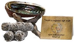 Smudging Kit - 3 California White Sage Smudging Wands  with