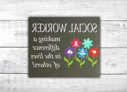 Social Worker Wood Sign | Office Decor | School Counselor |