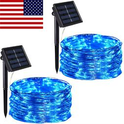 Solar LED String Copper Wire Fairy Light Night Twinkle Lamp