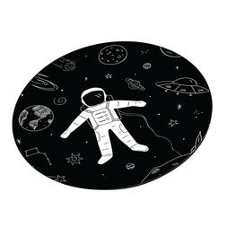 Space Design Round Mouse Pads Anti Slip Rubber Gaming Mousem